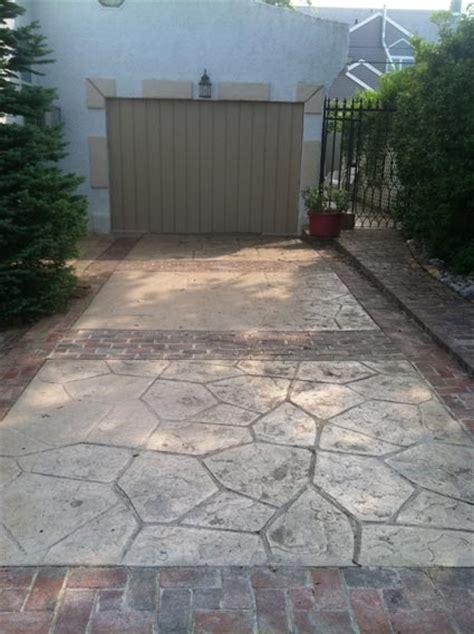 Backyard Concrete Patio Concrete Driveway Chadds Ford Difelice Stamped Concrete