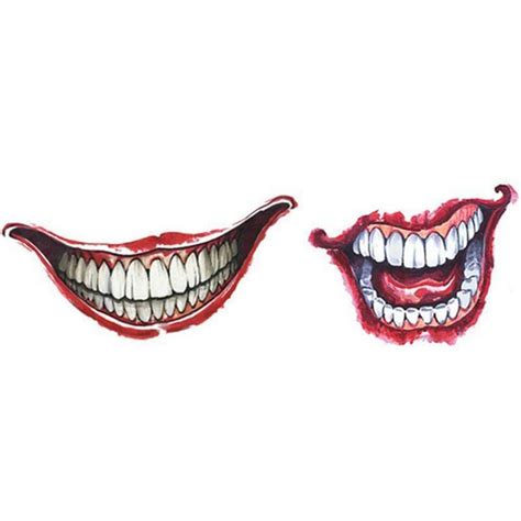 joker mouth tattoo suicide squad harley quinn joker temporary tattoo cosplay