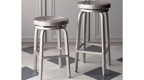 Aluminum Bar Stools Crate And Barrel by Spin Swivel Backless Counter Stool Crate And Barrel