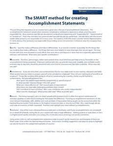 Examples Of Accomplishments On A Resume How To Write An Accomplishment Statement
