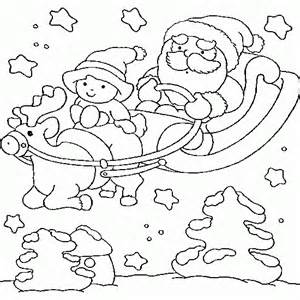 santa claus sleigh coloring pages free coloring pages of santa on sleigh