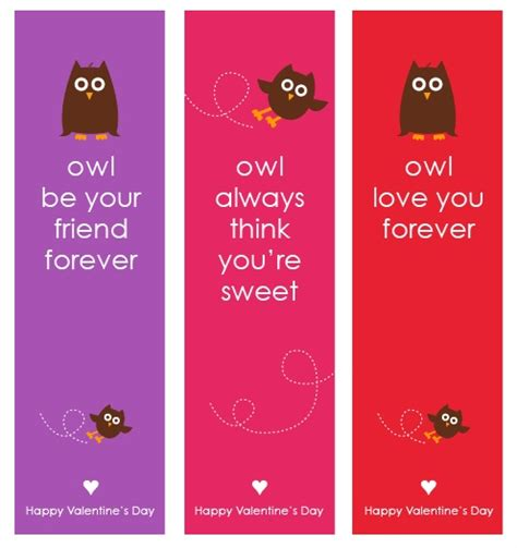 printable girly bookmarks 50 best valentines day free printables for kids homemade