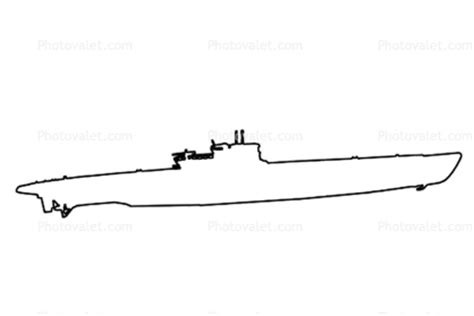 U Boat Drawing by U Boat Outline Line Drawing Shape Images Photography