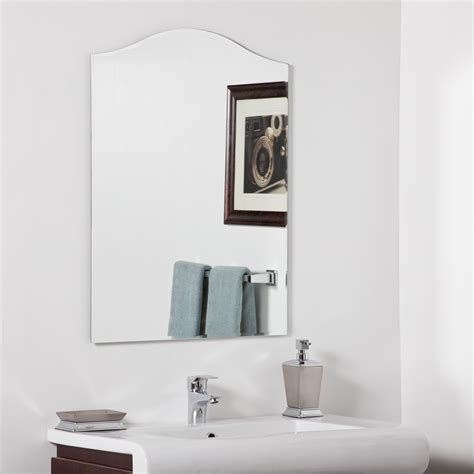 Decor Wonderland Allison Modern Bathroom Mirror Beyond Decorative Mirrors Bathroom