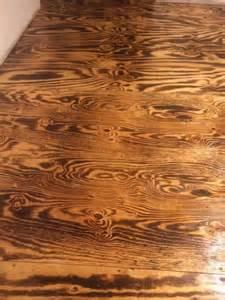 burnt plywood sheet floor diy house
