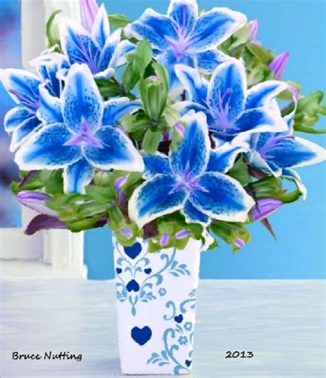 blue lily wedding flowers and ideas pinterest beautiful lily bouquet and lilies
