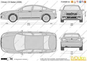 The Blueprints Com Vector Drawing Citroen C5 Sedan