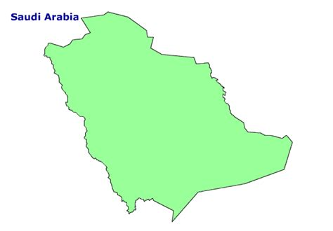 Saudi Map Outline by Map Of Saudi Arabia Terrain Area And Outline Maps Of Saudi Cliparts Co