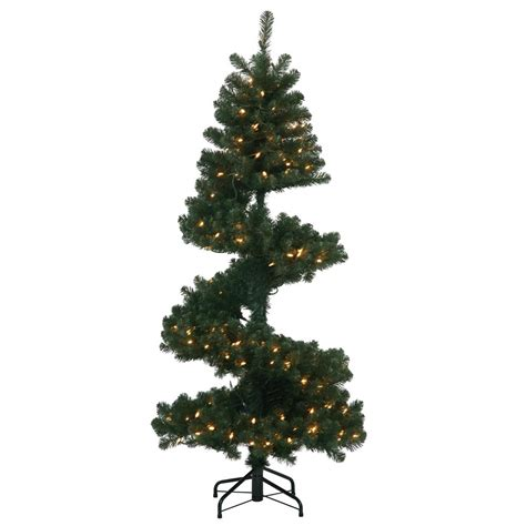 artificial spiral christmas pine tree vck4391
