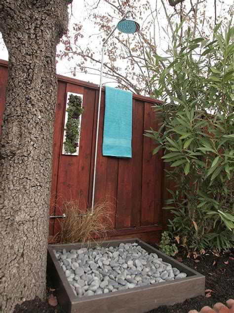 outdoor showering let nature in with an outdoor shower hgtv