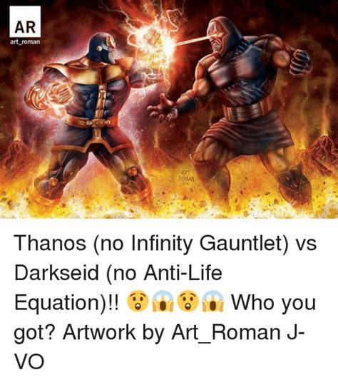 darkseid infinity gauntlet ar thanos no infinity gauntlet vs darkseid no