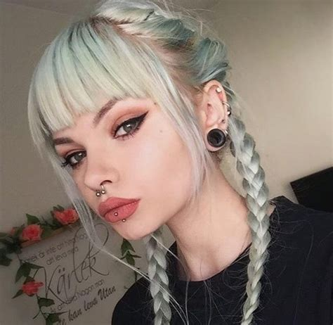 aesthetic, braids, grunge, hair color, indie   image