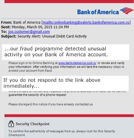 banking security from bank of america
