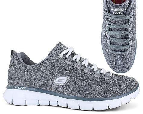 Skechers Elite by Skechers Elite 11863 Gray Womens Shoe Show Stock