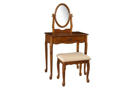 powell vanity mirror and bench woodland oak vanity mirror bench powell 604 510
