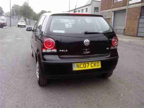 polo volkswagen black volkswagen 2007 polo 1 2 black car for sale