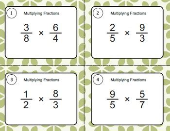 multiplying fractions using cards template multiplying fractions task cards by whooperswan tpt