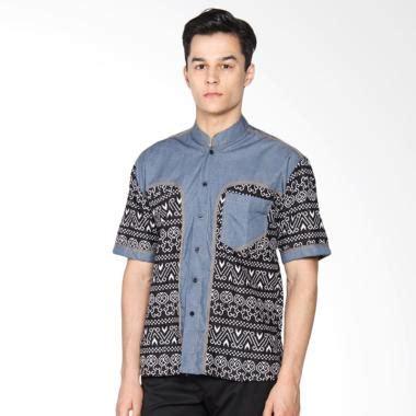 Kemeja Batik Kombi Denim jual jogja batik hem koko denim d kombinasi batik kemeja pria harga kualitas terjamin