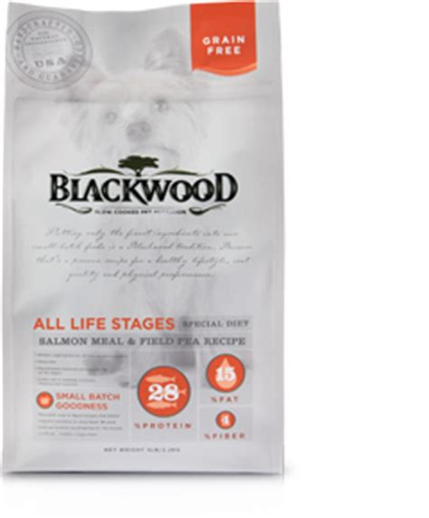 Blackwood All Stage Chicken Meal With Field Pea Grainfree salmon meal field pea blackwood pet food