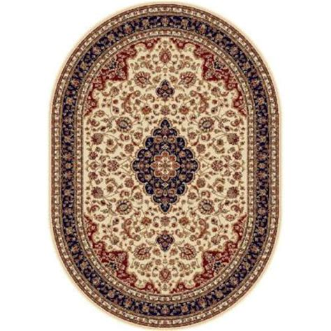 Tayse Rugs Sensation Beige 5 Ft 3 In X 7 Ft 3 In Oval Home Depot Area Rugs 5x8