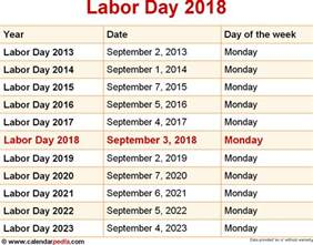 Calendar 2018 Labor Day When Is Labor Day 2018 2019 Dates Of Labor Day