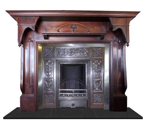 Mahogany Fireplace Mantel by Antique Nouveau Large Mahogany Fireplace Mantel For Sale At 1stdibs