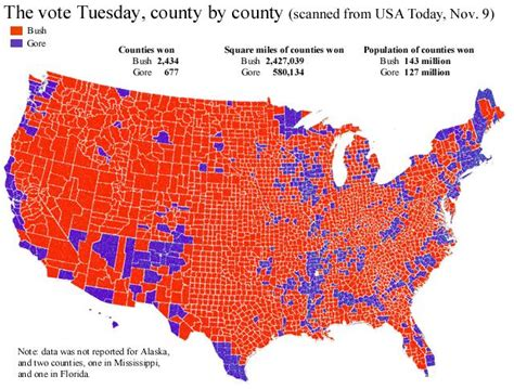 map of usa votes by county the blue paradox