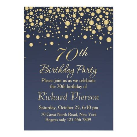 70th Birthday Card Templates Free by 70th Birthday Invitation Designs Free Printable