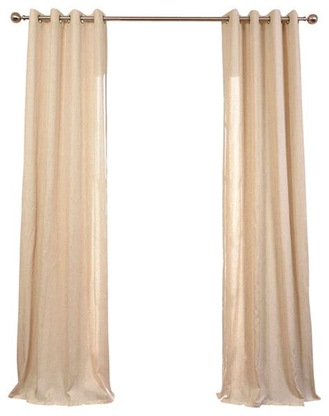 natural linen curtains lanai natural grommet linen blend stripe curtain single