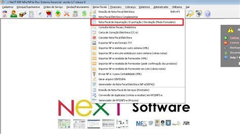 manual layout nfe next software sistemas erp e nota fiscal eletr 244 nica nf