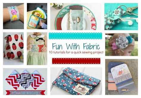 printable fabric projects fun with fabric 10 tutorials for a quick sewing project