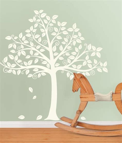 White Tree Decal For Nursery Wall New Wall Decals For The Nursery Poptalk