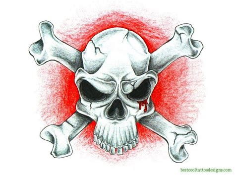 skull bones tattoo designs skull designs flash page 3 of 8 best cool