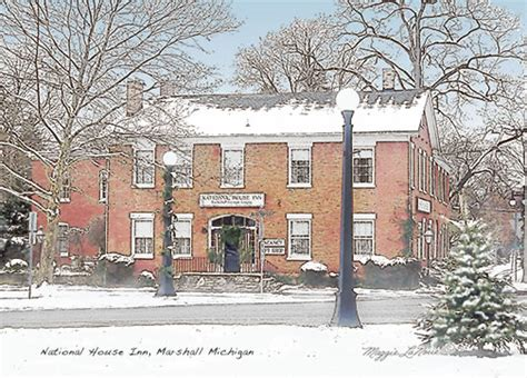 national house inn michigan prints interurban marshall michigan pen ink images by michigan artist
