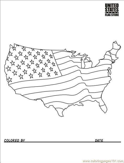 usa flag coloring