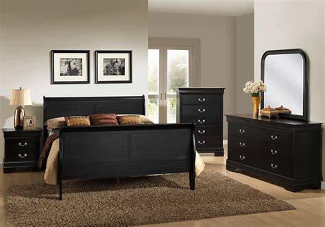 black king bedroom set calvin black king sleigh bedroom set evansville