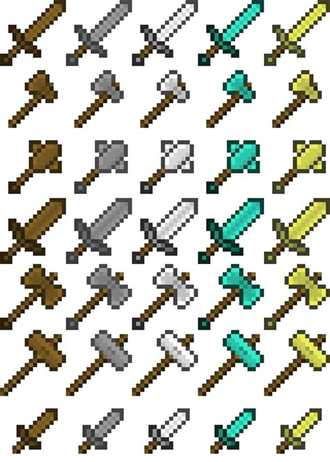 Minecraft Papercraft Weapons - minecraft arsenal by poisonedaxiom on deviantart