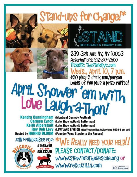 Fundraising Letter For Animal Shelter The Stand Nyc Standups For A Change Animal Rescue Fundraiser