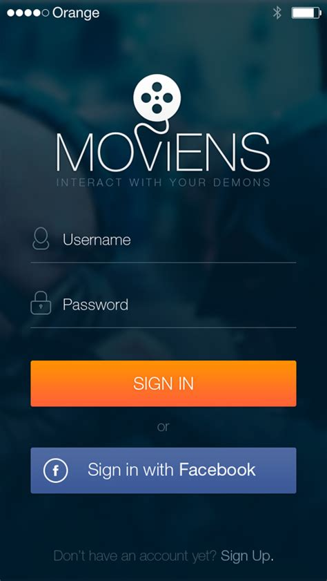 application template mobile phone login interface