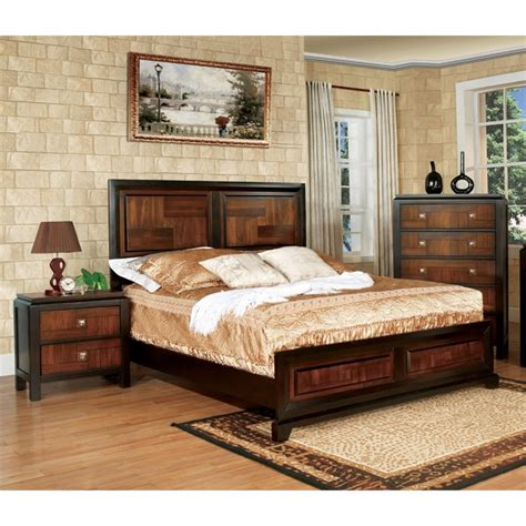 california bedroom furniture furniture of america delia 2 piece panel california king