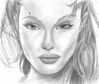 Mis Dibujos Retrato De Angelina Jolie