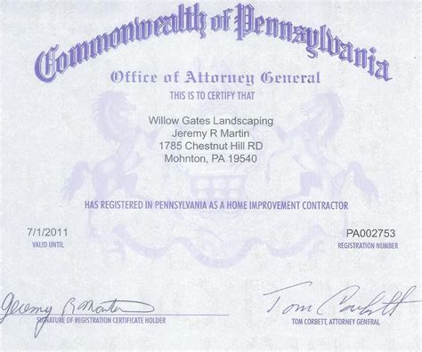willow gates pa contractor license from willow gates