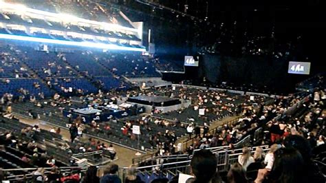 o2 section bk view from block 109 london o2 arena youtube