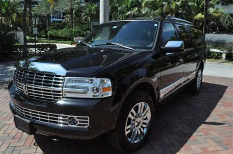 purchase used 2009 lincoln navigator l florida suv tv dvd