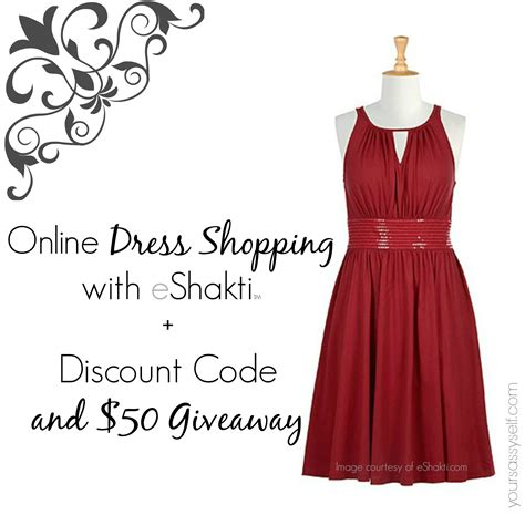 Eshakti Gift Card Code - online dress shopping with eshakti discount code and 50 giveaway your sassy self