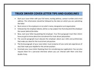 Cdl Owner Operator Cover Letter by Truck Driver Cover Letter Sle Pdf