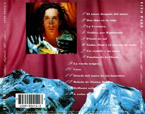 despus del amor 8408173901 musica el amor despu 233 s del amor fito paez 1992 mega