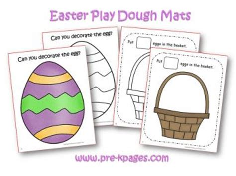 free printable spring playdough mats easter theme activities in preschool