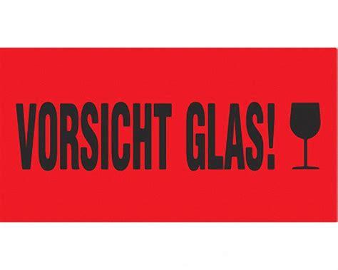 Dhl Warensendung Aufkleber Ausdrucken by Hinweisetiketten Warnetiketten Rot Vorsicht Glas
