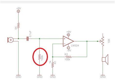 op dc blocking capacitor op use of 100k ohm resistor along with 0 1uf capacitor electrical engineering stack